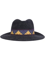 Maison Michel 'Henrietta' Diamond Band Hat Grey