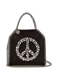 Stella Mccartney Falabella Tiny Faux Suede Cross Body Bag Black