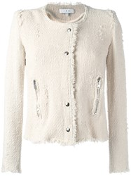 Iro Collarless Cropped Jacket Nude Neutrals
