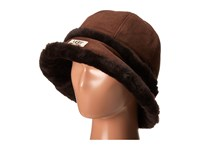 Ugg City Bucket Hat W Exposed Shearling Chocolate Traditional Hats Brown