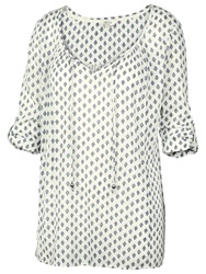 Fat Face Three Quarter Diamond Tunic Ivory