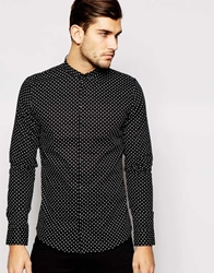 Vito Shirt With All Over Ditsy Print Navy