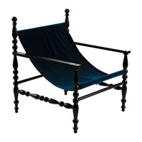 Seletti Heritage Wooden Armchair Black Blue