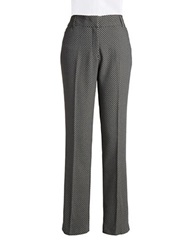 Dex Patterned Straight Leg Pants Grey