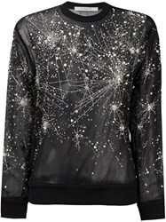 Givenchy Sheer Constellation Pattern Sweatshirt Black
