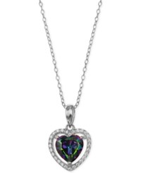 Giani Bernini Mystic Cubic Zirconia Heart Halo Pendant Necklace In Sterling Silver Only At Macy's