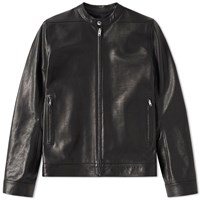 Rick Owens Leather Windbreaker Black