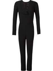 Andrea Marques V Neck Cache Coeur Jumpsuit Black