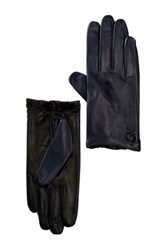 Vince Camuto Contrast Back Leather Driver Glove Black