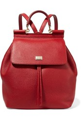 Dolce And Gabbana Sicily Medium Textured Leather Backpack One Size