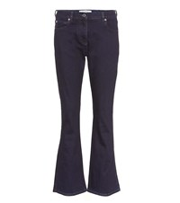 Valentino Mid Rise Flared Jeans Blue