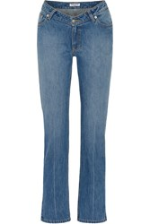 Opening Ceremony Dip Mid Rise Straight Leg Jeans Mid Denim
