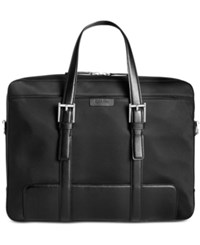 Calvin Klein Men's Nylon Attache Case Black