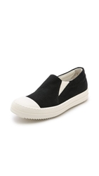Rick Owens Boat Slip On Sneakers Black