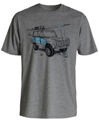 Quiksilver Men's Baja Bound Graphic Print T Shirt Bkth Niagara Heather