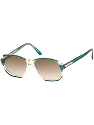 Yves Saint Laurent Vintage Bi Colour 80S Sunglasses Blue