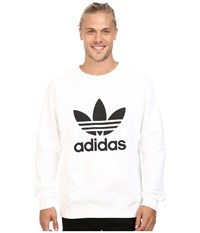 Adidas Trefoil Crew White Black Men's Long Sleeve Pullover