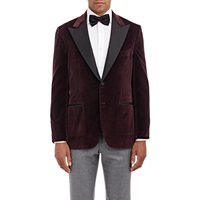 Sartorio Velvet Pg Drop 8 Tuxedo Jacket Red