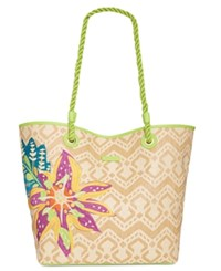 Vera Bradley Medium Beach Tote Natural Light Natural Chevron Straw