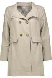 Joie Costela Cotton And Linen Blend Jacket Ecru