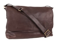 Frye James Messenger Dark Brown Tumbled Full Grain Messenger Bags