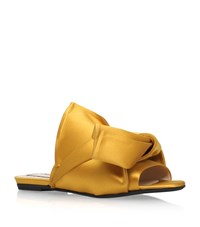 N 21 No. 21 Satin Bow Slippers Female Mustard