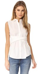 Derek Lam 10 Crosby Twist Front Shirt Soft White