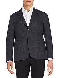 Z Zegna Regular Fit Wool And Cotton Sportcoat Black