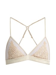 Fleur Of England Golden Hour Boudoir Lace Triangle Bra Light Pink