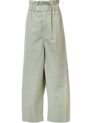 Craig Green Draped Elastic Waistband Trousers Green