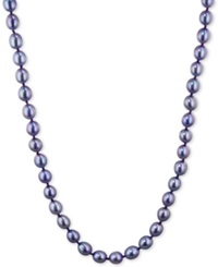 Honora Style Violet Cultured Freshwater Pearl Strand In Sterling Silver 7 8Mm