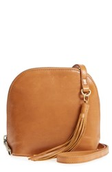 Hobo Nash Calfskin Leather Crossbody Bag Brown Earth