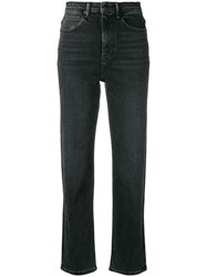 Alexander Wang T By Wake Flex Cropped Jeans Grey