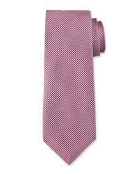 Hugo Boss Micro Dot Silk Tie Mauve