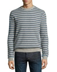 Wesc Alban Striped Sweater Navy