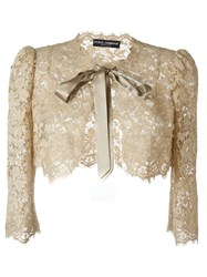 Dolce And Gabbana Floral Lace Bolero Multicolour