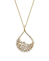 Bloomingdale's Diamond Teardrop Shape Pendant Necklace In 14K Yellow Gold 2.45 Ct. T.W. 100 Exclusive White Gold