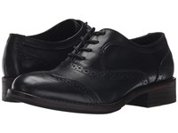 Wolverine Elsie Oxford Black Leather Women's Lace Up Casual Shoes