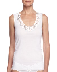 Hanro Isabeau Lace Trimmed Tank Top