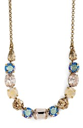 Sorrelli Delicate Round Crystal Necklace Beige