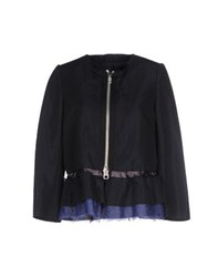 Sacai Suits And Jackets Blazers Women Dark Blue