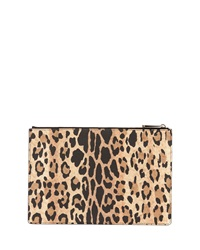 Givenchy Leopard Print Coated Canvas Zip Pouch
