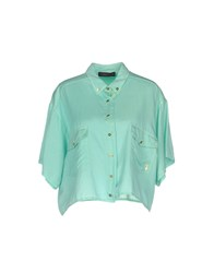 Trussardi Jeans Shirts Light Green