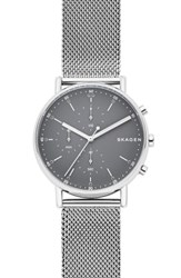 Skagen Signatur Chronograph Mesh Strap Watch 40Mm Silver Gray Silver