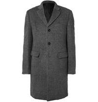 Enlist Brushed Wool Blend Coat Gray