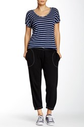 Allen Allen Crop Pant With Stitched Waist Black