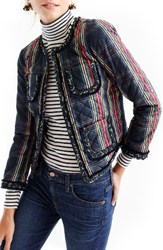 J.Crew Women's Stewart Plaid Quilted Lady Jacket