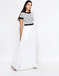Rare Maxi Dress With Lace Top Black White