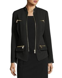 Raison D'etre Black Lady Zip Front Blazer