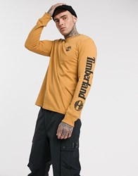 Timberland Core Logo Long Sleeve In Stone